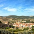 Morella in Spain. Landscape with town and mountains. — Stock Photo #11833612