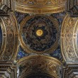 Gorgeous сeiling of the baroque chirch in Italy, Rome. — Foto Stock