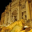 Fountain de trevi, Rome, Italy, Night time. — Stock Photo