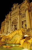 Fountain de trevi, Rome, Italy, Night time. — Stock Photo