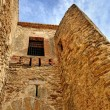 Old ruined castle in Morella, Spain. — Stock Photo