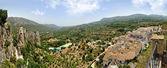 Guadalest na espanha. vista superior do castelo e as montanhas. — Foto Stock