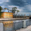 View to the Peter's house in Summer garden. Saint-Petersburg, Ru — Stock Photo