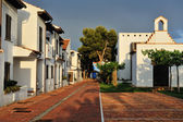 The court yard of the spanish houses in Alcossebre, Spain. — Stock Photo