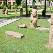 Stock Photo: Stone polovtsisculptures in park-museum of Lugansk, Ukraine