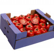 Tomato in a box - Stock Photo