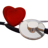Stethoscope and red heart — Stock Photo