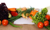 Vegetables on sacking — Stock Photo