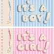"Stock Vector: ""It`s boy"" and ""it`s girl"" banners"
