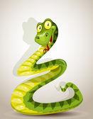 Joli serpent courbé sous la forme d'un sapin de noël — Vecteur