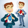 Super businessman — Stockvectorbeeld