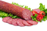 Tasty red salami — Stock Photo