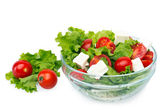 Salad with cherry tomatoes — Stock Photo