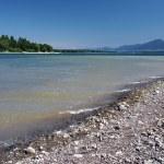 Shore of Liptovska Mara lake and Low Tatras — Stock Photo #11833737