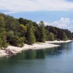 Shore of Liptovska Mara lake — Stock Photo #12014311