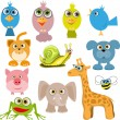 Cartoon animals - Image vectorielle