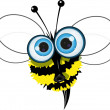 Angry bee - Stock Vector