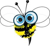 Angry bee — Stock Vector