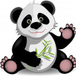 Funny panda — Stock Vector
