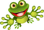 Happy frog — Stockvector