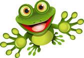 Happy frog — Stock Vector