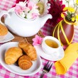 Afternoon tea with fresh baking — Stock Photo #11068489