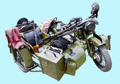 Old military motorcycle — Stockfoto