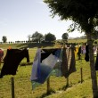Laundry hanging to dry — Stock Photo #10821964