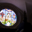 Rose window of the Granon church - Lizenzfreies Foto