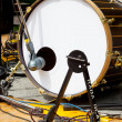 Drum and microphone — Stock Photo