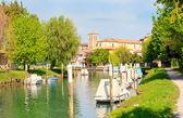 Ausa river, Cervignano — Stock Photo