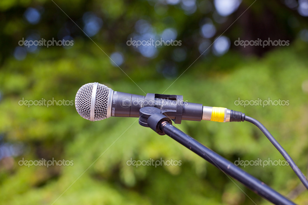 Close up of a microphone for a concert — Stock Photo #10900649