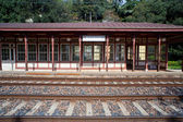 Miramare railroad station — Stock Photo
