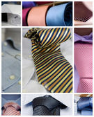 Neckties and shirts — Stock Photo