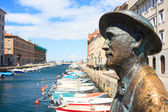 Estatua de james joyce, trieste — Foto de Stock