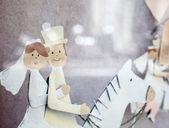 Figur auf dem Pferderücken verheiratet — Stockfoto