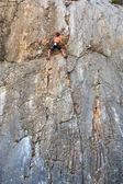 Escalador de roca sistiana, trieste — Foto de Stock