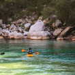 Kayaking on Socriver, Slovenia — Photo #12383068