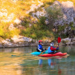 Kayaking on the Soca river, Slovenia — Stock Photo