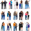 """Collection """" Back view of couple """"d — Stock Photo"""