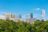 Luxembourg Kirchberg area — Stock Photo