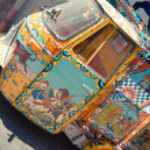 Old sicilian car — Stock Photo