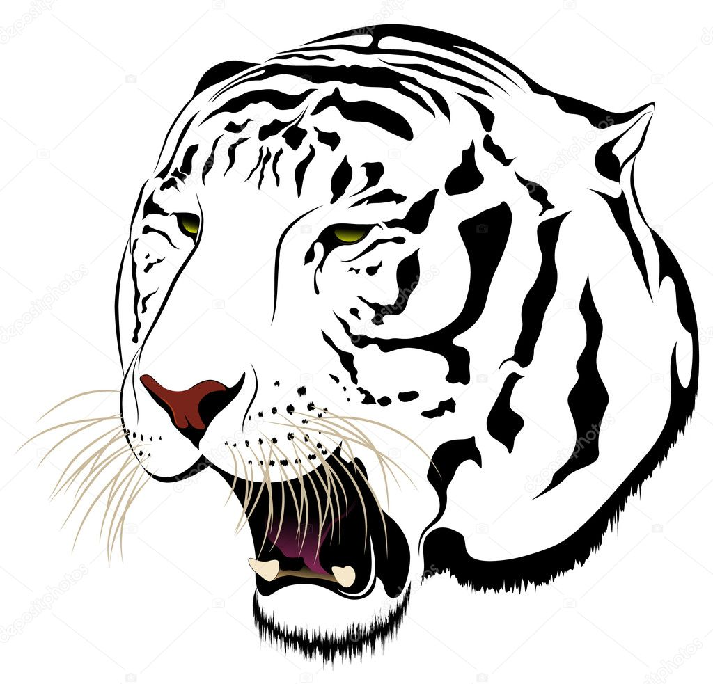 Abstract Tiger in the form of a tattoo — Stock Vector #11709182