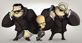 Bodyguards tycoon — Stock Vector