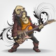 Постер, плакат: Old rock musician with a guitar