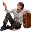 Man with suitcase — Stock Photo