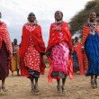 Dancing Masai women - Stock Photo