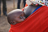 Young masai child — Stock Photo
