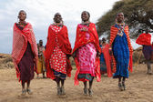 Dancing Masai women — Stock Photo