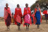 Dancing Masai women — Stock Photo